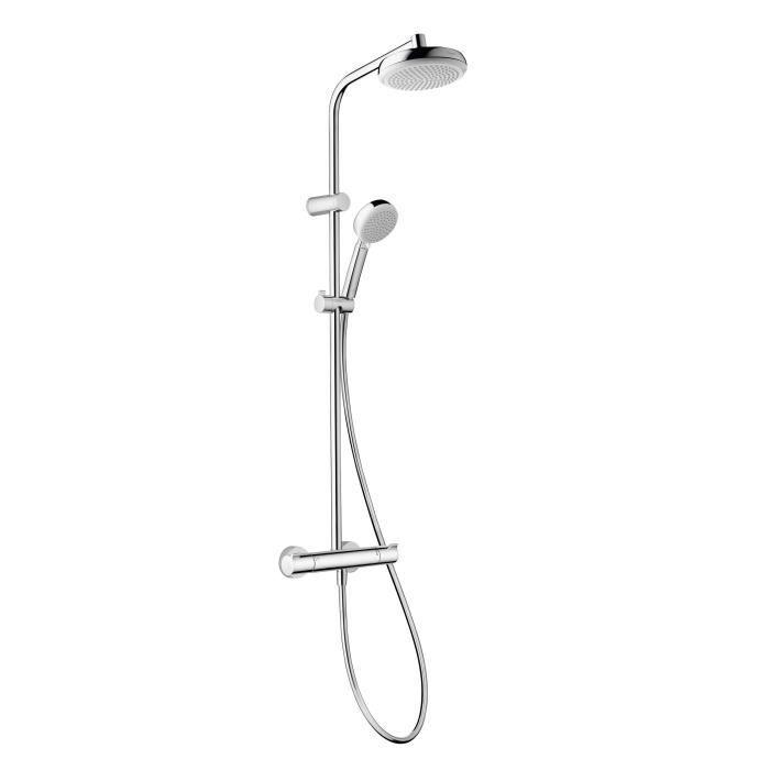 hansgrohe colonne de douche avec robinet mitigeur thermostatique showerpipe myclub 180 ecosmart. Black Bedroom Furniture Sets. Home Design Ideas