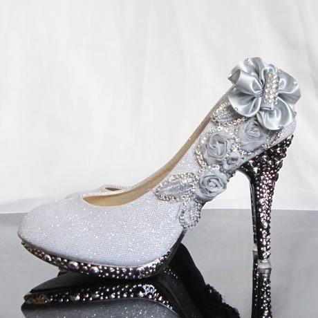 chaussures talons escarpins mariage soir e 01 argent. Black Bedroom Furniture Sets. Home Design Ideas