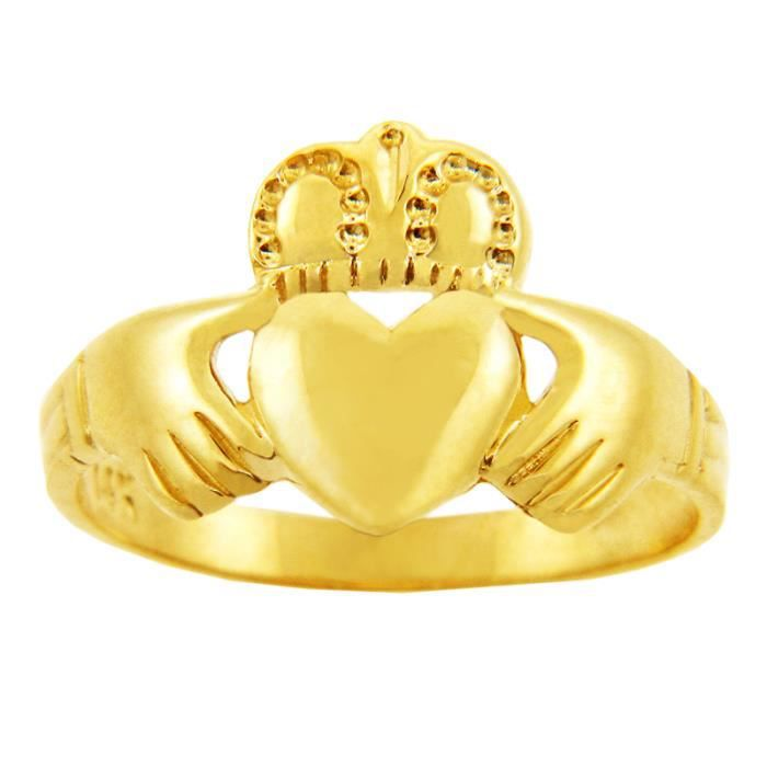 Bague Femme 14 ct Or 585/1000 Traditionnel Claddagh