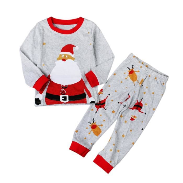 2 7 ans enfant pyjamas no l fille gar on unisexe 2pcs - Noel fille 8 ans ...