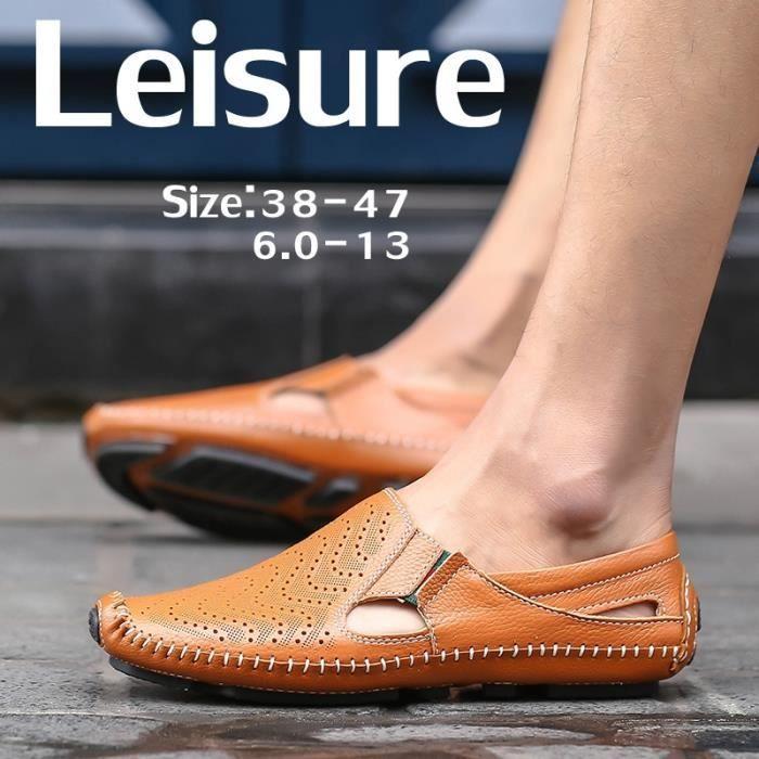 conduite de Souliers Outdoor Mode plates simples en Hommes Chaussures Mocassins cuir Chaussures wqw7CUO6