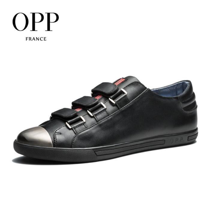 Chaussure Basket 2017 Hook & Boucle décontracté Chaussures Homme Noirtaille 44 EU OC173197-Noir