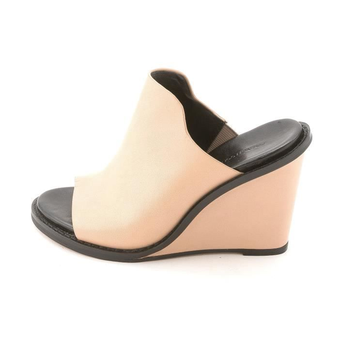 French Connection Femmes Pandra ouverts Mulets en cuir Toe BW56A Taille-37