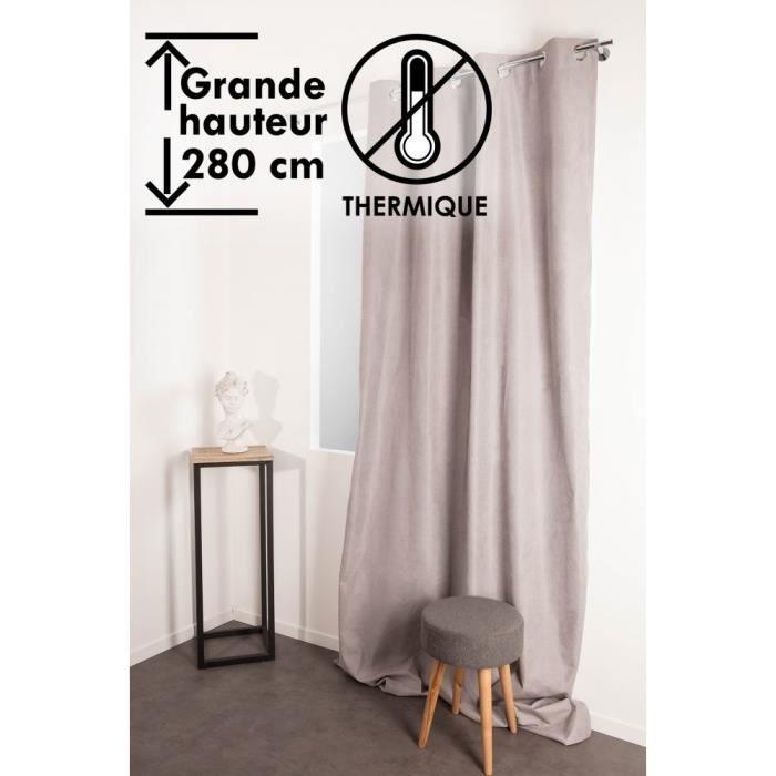 Rideaux 280 hauteur gris - Achat / Vente pas cher