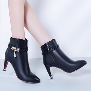 Angleterre bottes bottes et Spring de marée simples cuir bottes courtes de Martin femmes bottes bottes de nues plat Duantong 2016 zX5x8SS