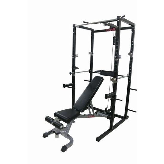 Care Cage De Musculation Power Rack Mixte Noir Et Gris Prix