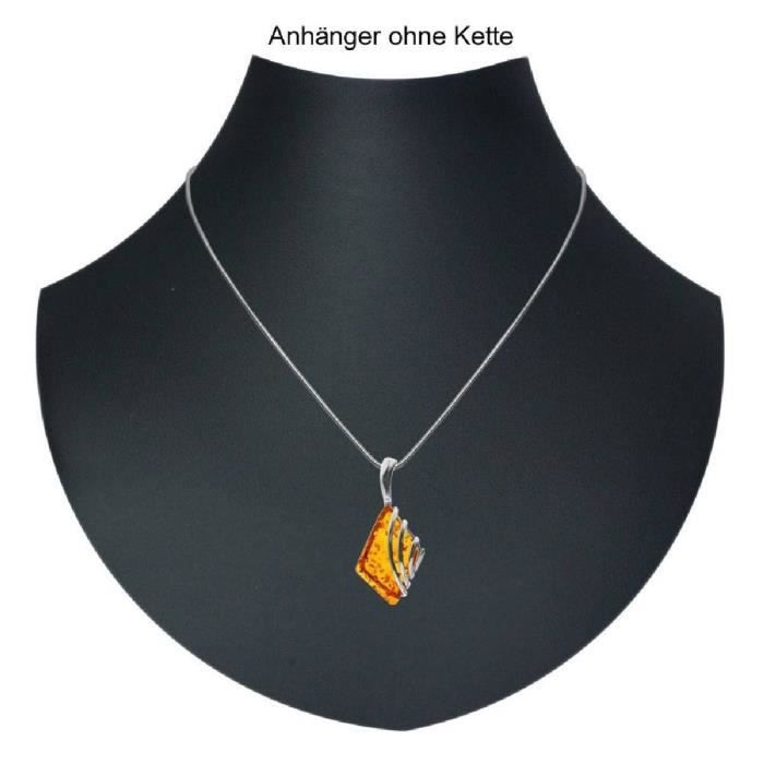 In Collections - 0010204022780 - Pendentif Femme - Argent 925-1000 - Ambre N0UBM