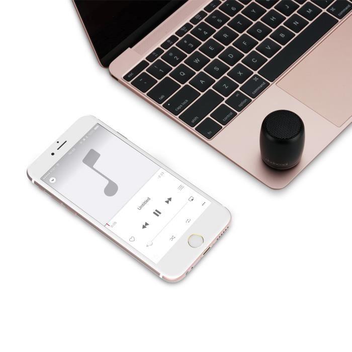 Dodocool Mini Haut-parleur Bluetooth Sans Fil Portable Et Rechargeable, Fonction Télécommande Pour Photos Selfies,mains Libres,co