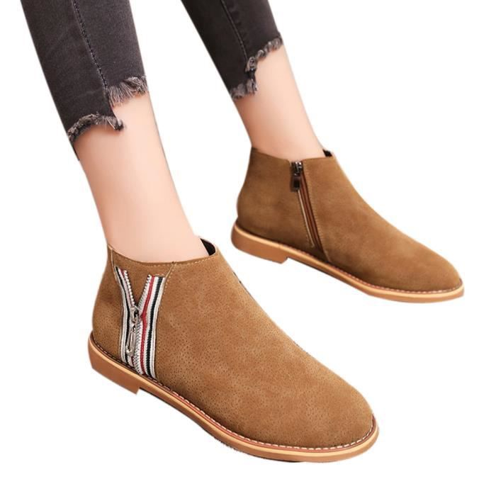 Jaune Comfortable Soft Boot Shoes Boots Ankle Fashion Leather Vintage Femmes Flat vq1WwC7