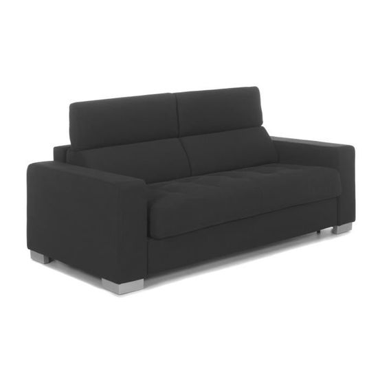 Gris Mauro Places Vente Achat Anthracite Canapé 3 Convertible f7vy6bgY