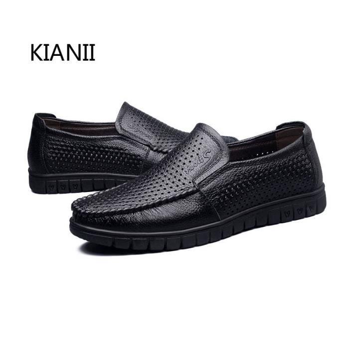 hommes des casual des Business casual ronds hommes cuir en Business chaussures cuir chaussures en pBqBdwX