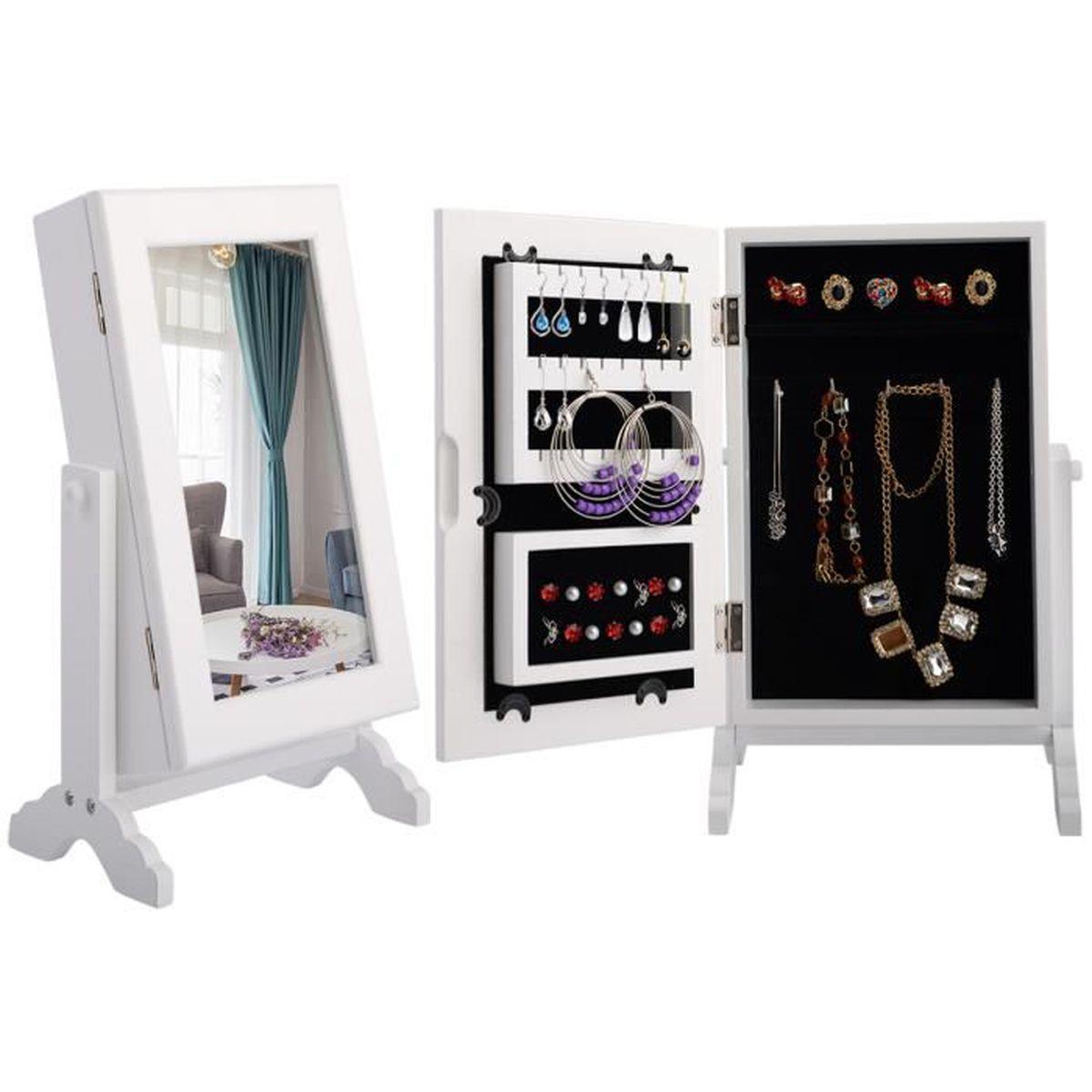 delightful armoire a bijoux sur pied 8 songmics armoire bijoux sur pied avec miroir psych. Black Bedroom Furniture Sets. Home Design Ideas