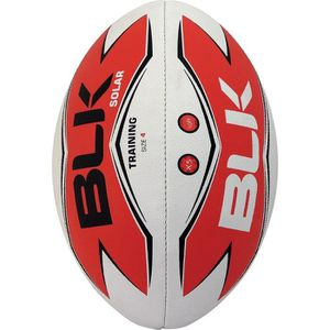 BLK Ballon de Rugby Solar Adulte Blanc, rouge et noir