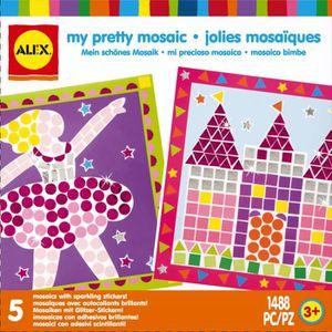 JEU DE MOSAIQUE ALEX Mes jolies mosaïques - A partir de 3 ans