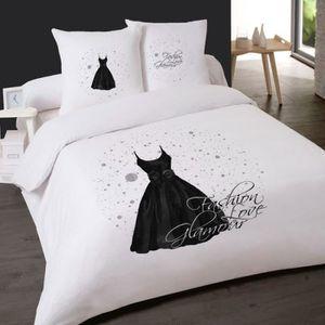 housse de couette robe glamour robe en noir 200 x 200 2. Black Bedroom Furniture Sets. Home Design Ideas