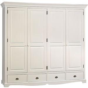 armoire bois massif achat vente armoire bois massif pas cher cdiscount. Black Bedroom Furniture Sets. Home Design Ideas
