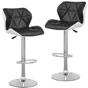 tabouret de bar noir et blanc achat vente tabouret de bar noir et blanc pas cher cdiscount. Black Bedroom Furniture Sets. Home Design Ideas