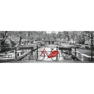 PUZZLE Puzzle 1000 pièces panoramique : Bicyclette à Amst