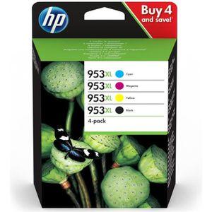 CARTOUCHE IMPRIMANTE HP 953XL Pack de 4 à rendement élevé noir, jaune,
