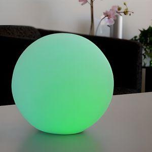 LAMPE A POSER Grande boule lumineuse led change de couleurs