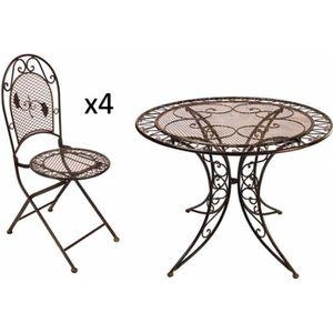 Table ronde salon de jardin - Achat / Vente pas cher