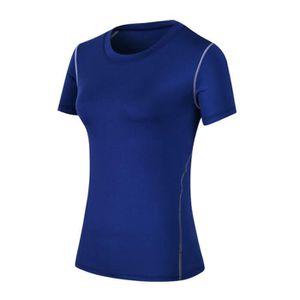 T-SHIRT DE COMPRESSION T-shirt de Compression Manches Courtes pour Femme,