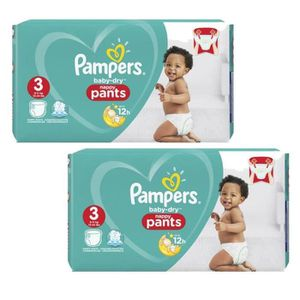 COUCHE Giga Pack 160 Couches Pampers Baby Dry Pants taill