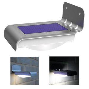 Eclairage Escalier Sans Fil lampe solaire à détecteur de mouvement 16 led eclairage mural sans