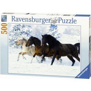 PUZZLE Puzzle 500 pcs Galop Dans La Neige