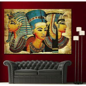 TABLEAU - TOILE Home Décor Peinture à l'huile Old Egyptian Papyrus