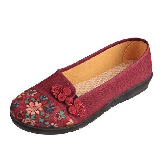 Femmes Dames Automne Chaussures Cheville Solide Roman Martin Bottes Courtes Chaussures Simple@marron Rouge Rouge - Achat / Vente botte