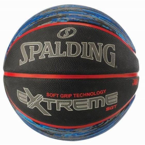 SPALDING Ballon de basket-ball NBA Extreme Sgt - Noir et rouge - Taille 7