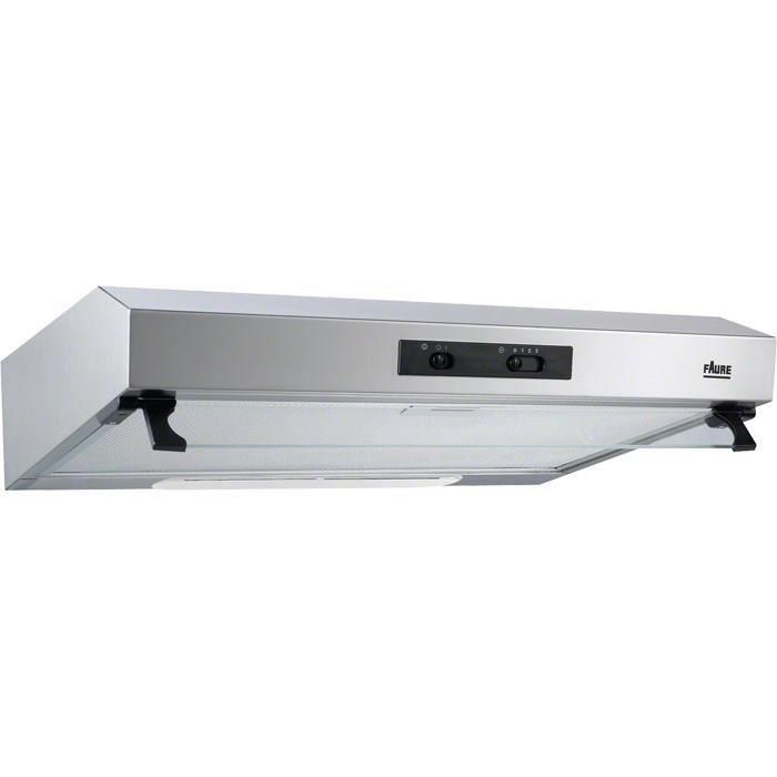 FAURE FHT6136X - Hotte / recyclage - 155 m3/h - 48dB - 3 vitesses - L60 - Inox