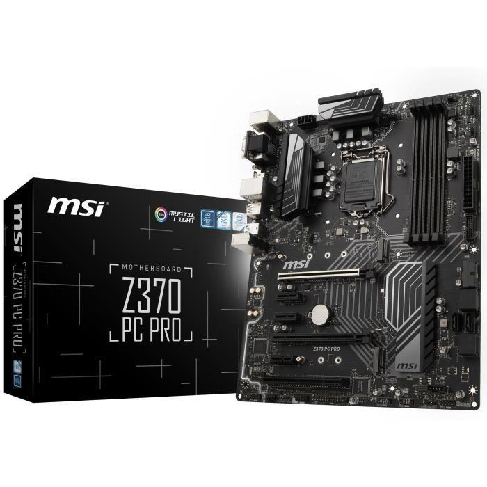 MSI Carte Mère Z370 PC PRO