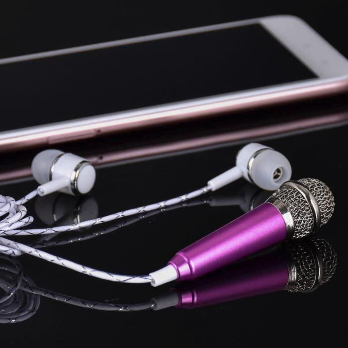 Mini Karaoke Microphone À Condensateur Avec Des Écouteurs Pour Téléphone Ordinateur Phonémique Marioyuzhang 5441