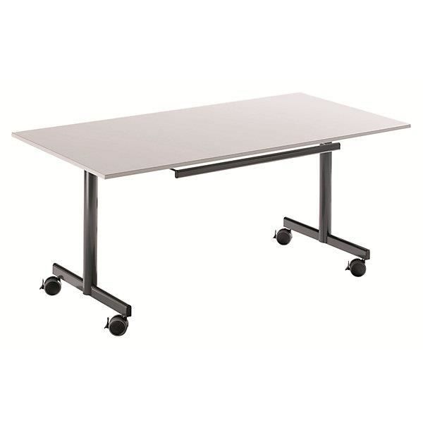 Table Mobile à Plateau Rabattable H X L P 720 1200 800 Mm Façon Hêtre De Conférence Pliante