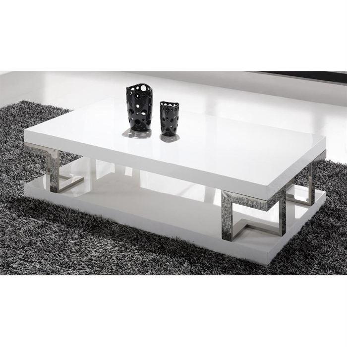 Table basse laqu e blanche haute brillance doris achat - Table basse conforama blanche ...