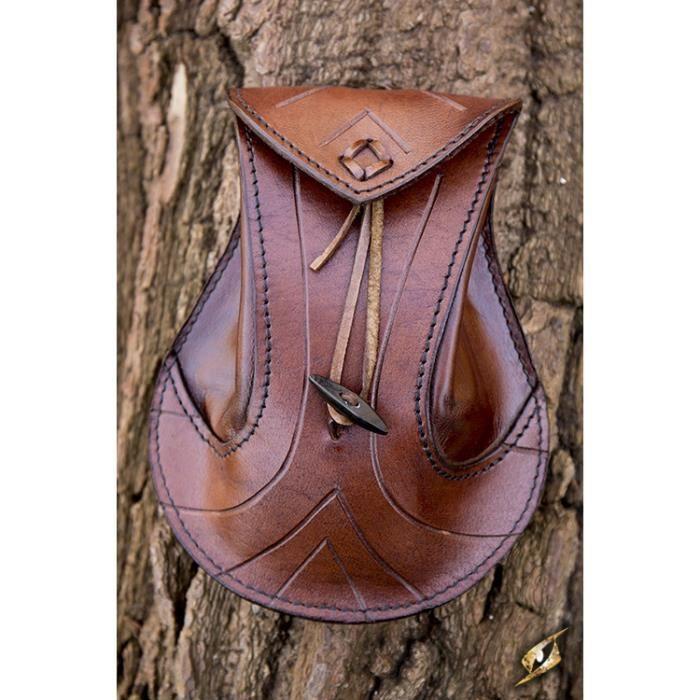 464713f6f69 Sacoche pour ceinture en cuir tanné marron
