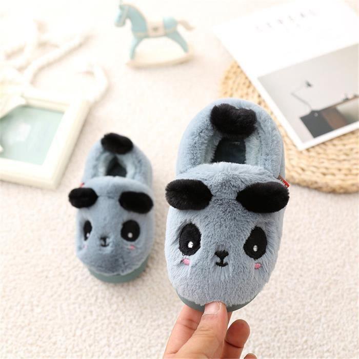 Chausson Panda Doux Garde Au Chaud Hiver Chaussons Haut qualité Confortable Mignon Enfant Coton Chaussure Plus De Cachemire 14-19