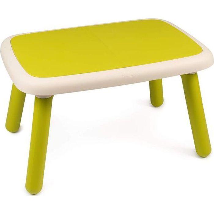 SMOBY - Kid Table Intérieure / Extérieure Verte - Achat / Vente ...