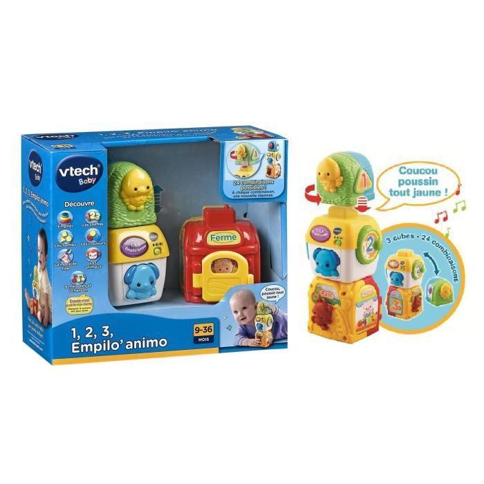jouet d'eveil bebe vtech 123 empilo animo rouge - achat / vente