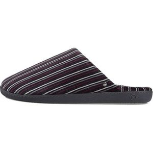 ... CHAUSSON - PANTOUFLE 96740-MUU - Chaussons mules Homme rayures velours  ... 3e77554601c8