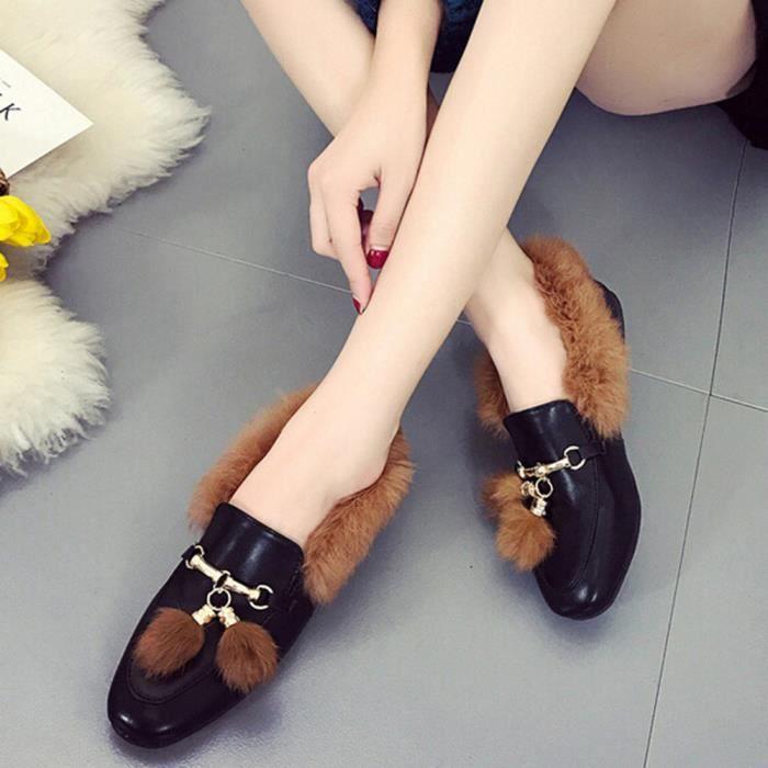 Chaussures Avec Anti Tassel slip Mode Bottines Plat Femme dqxwnCBS