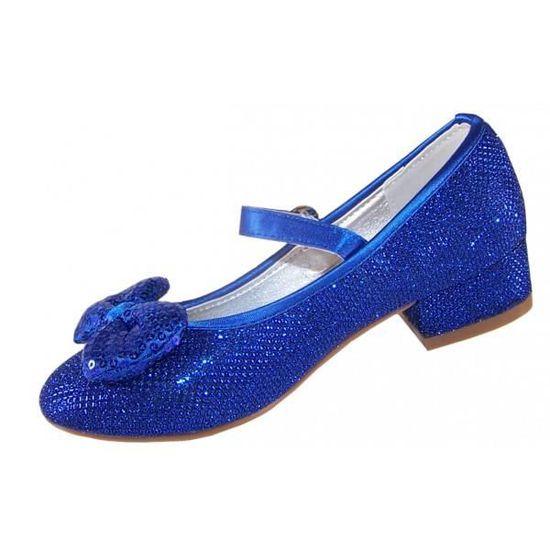 e2113d45f9d15 Chaussures babies à talon bas bleues à paillettes pour mariages et autres  occasions spéciales Bleu Bleu - Achat   Vente babies - Soldes  dès le 9  janvier !