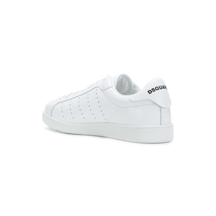 DSQUARED2 HOMME SNM0403065002851062 BLANC CUIR BASKETS NLeVMhQe88