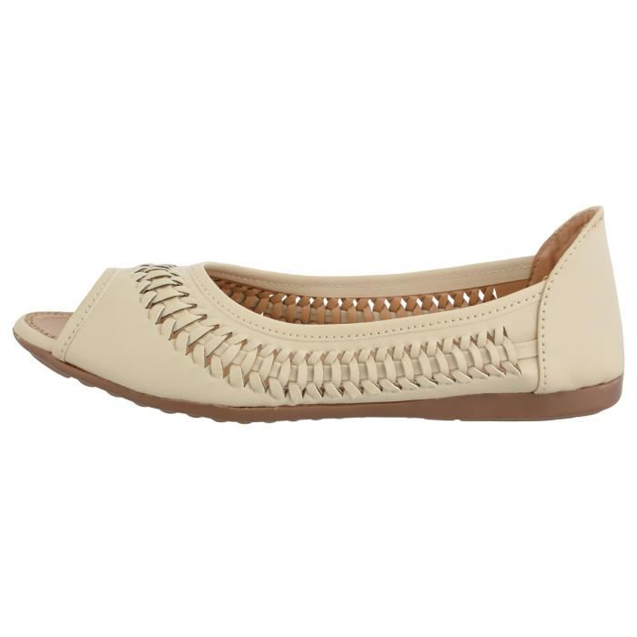 ballerines synthétiques pour femmes PG9EO Taille-39