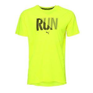 PUMA T-shirt Run Safety Ye Manches courtes - Homme - Jaune