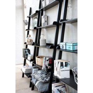 Etagere echelle achat vente etagere echelle pas cher cdiscount - Etagere murale noir laque ...