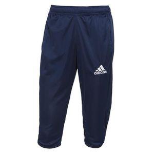 ADIDAS Pantalon 3/4 Core Bleu / Blanc