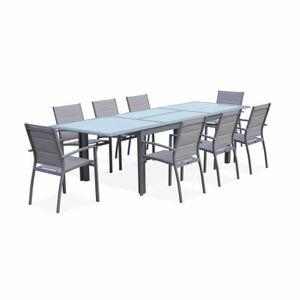 Salon de jardin table extensible - Achat / Vente pas cher